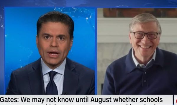 Why Is Bill Gates Smiling So Big When The Reporter Says The Economy Is Going To Take A Long Time To Recover?