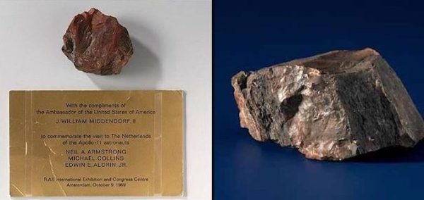 'moon Rock' Given To Holland By Neil Armstrong And Buzz Aldrin Is Fake