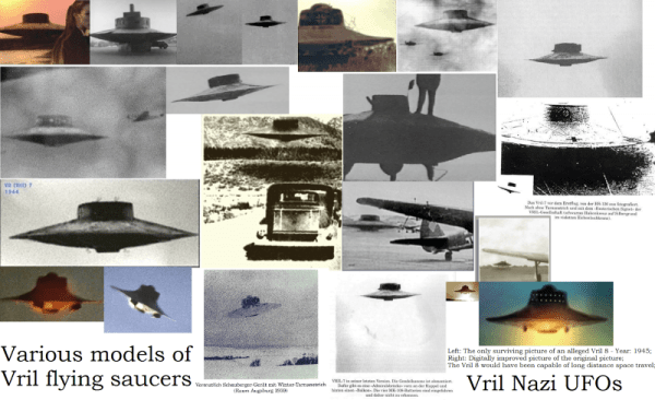 Pictures Collage Or Various Models Of Real Nazi Vril Flying Saucers