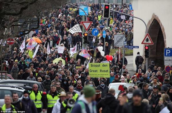 central germany anti lockdown protests
