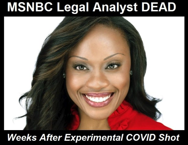 47 year old msnbc legal analyst, midwin charles, dead one month after experimental mrna shot