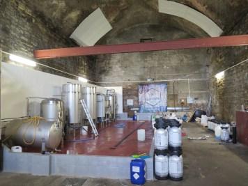 Views inside Iain's brewery