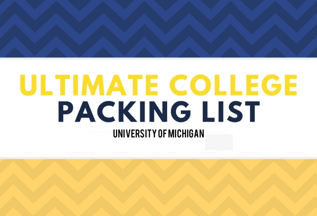 University of Michigan Packing list