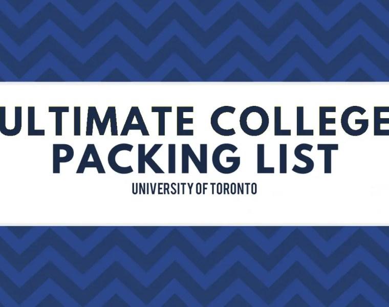 University of Toronto Packing list