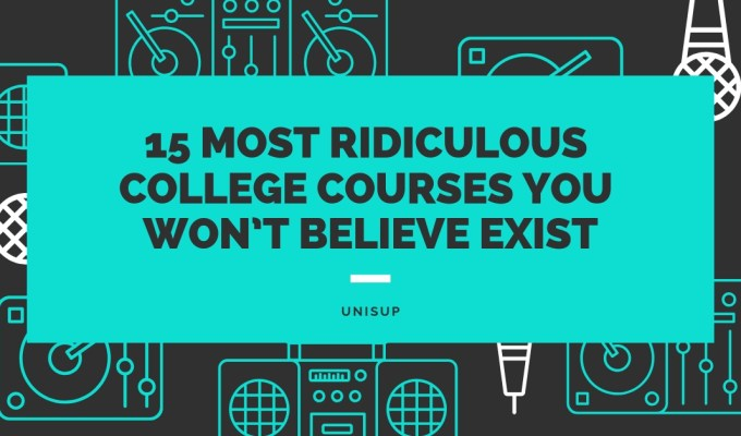 15 Most Ridiculous College Courses You Won't Believe Are Being Taught
