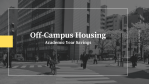 Off-Campus Housing - savings data