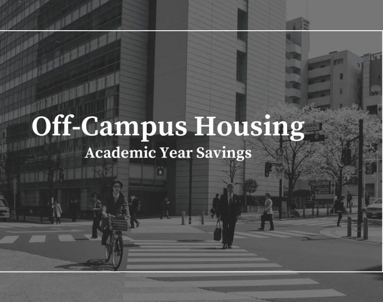 Off-Campus Housing - savings data