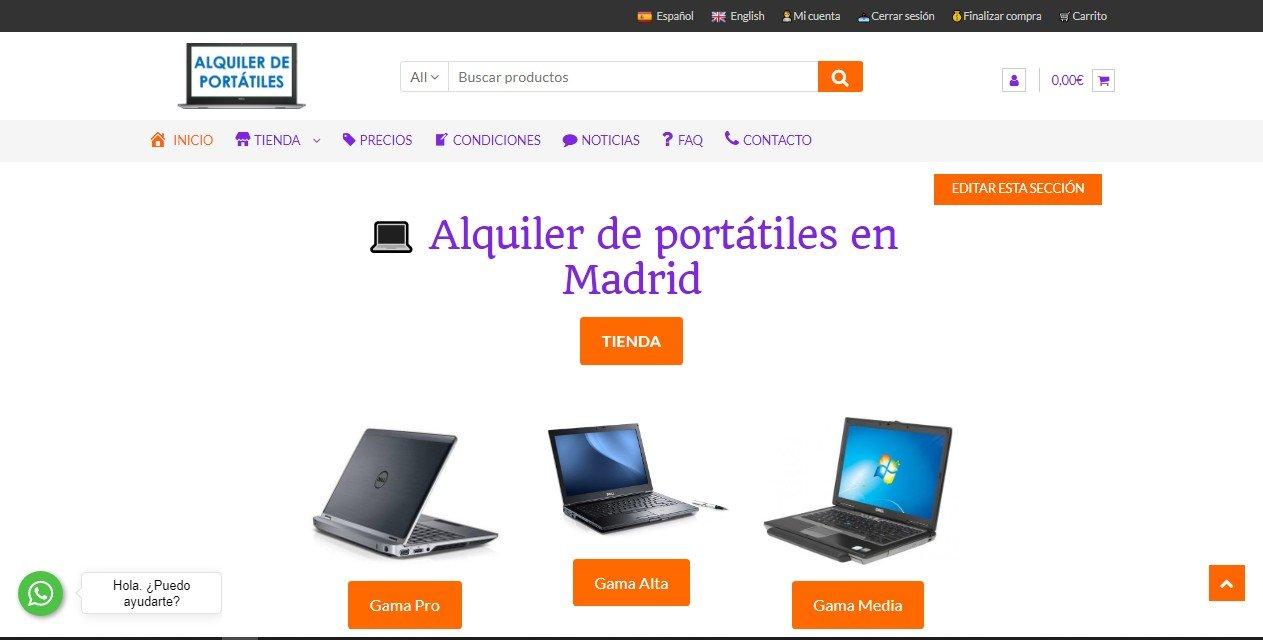 Estrenamos web: www.alquilerdeportatiles.es