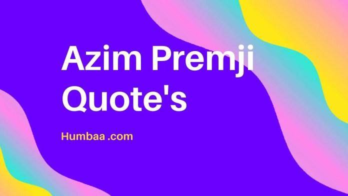 Azim Premji Quote's
