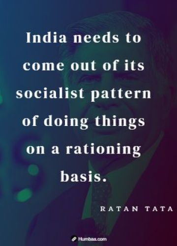 India needs to come out of its socialist pattern of doing things on a rationing basis.