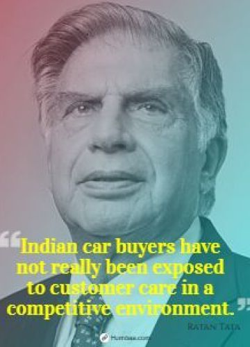 Indian car buyers have not really been exposed to customer care in a competitive environment.