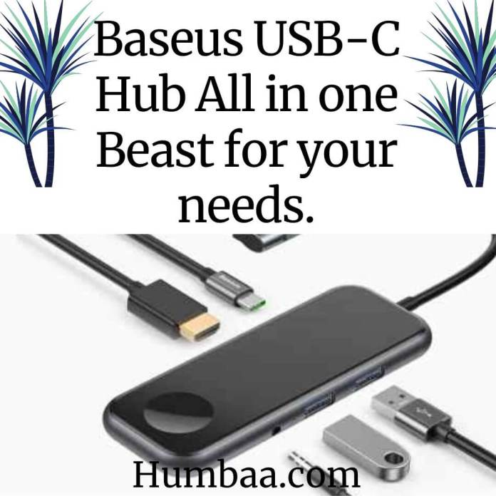 BASEUS (USB-C HUB)- Connects with you.