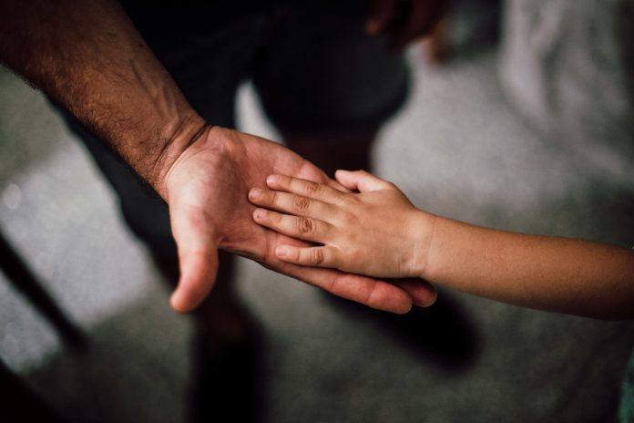 The loving bond between A child and father...