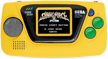 Sega's Game Gear Micro four consols at 50$ four games with four colours.