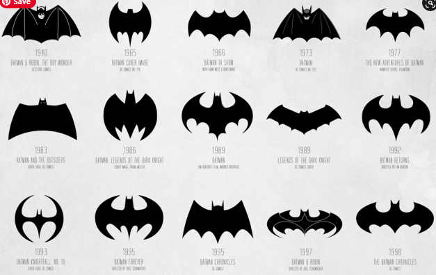 Batman Logo - Evolution of the Batman logo pic 2