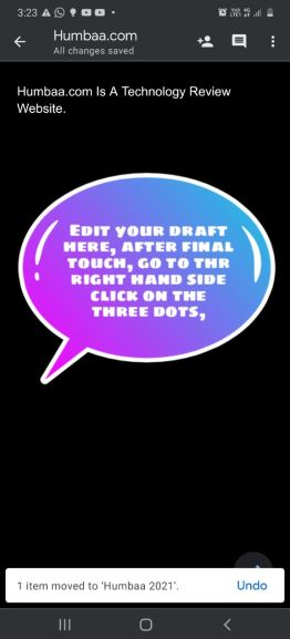 Edit your draft here, after final touch, go to the right hand side, click on the three dots.