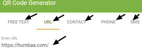 QR Code Generator on Humbaa