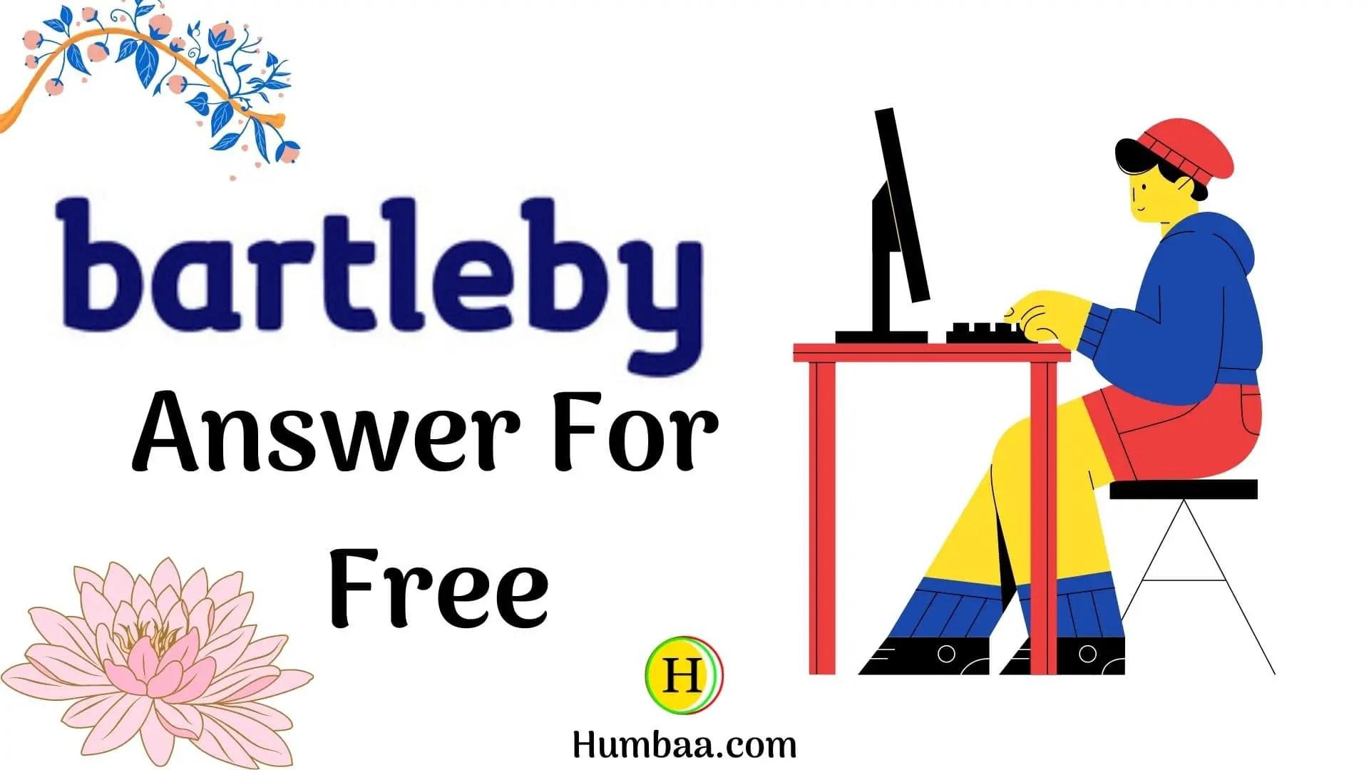 bartleby free answers
