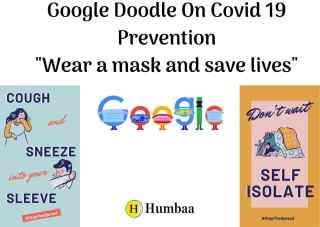"Google Doodle On Covid 19 Prevention ""Wear a mask and save lives"""
