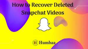 How to Recover Deleted Snapchat Videos