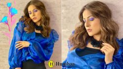 Shehnaaz Gil looking Stunning in Blue Top