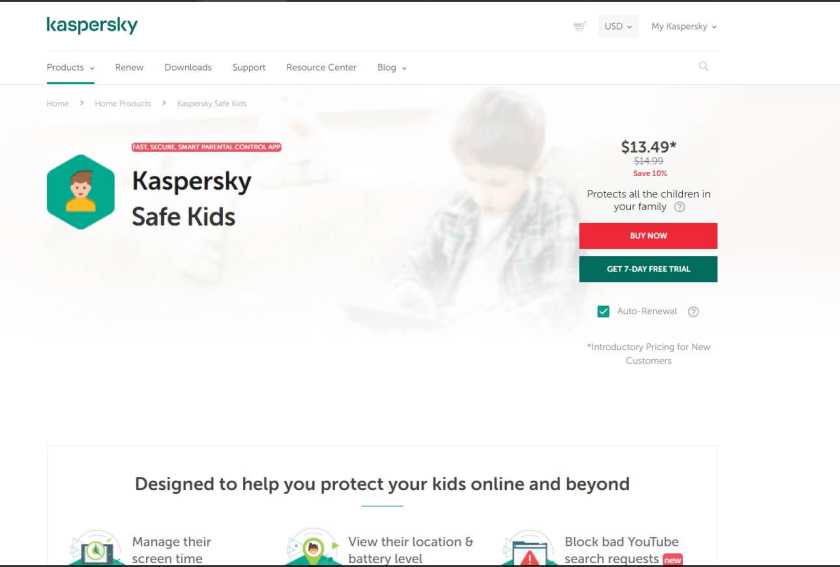 Kaspersky - Best Antivirus For Kids Device