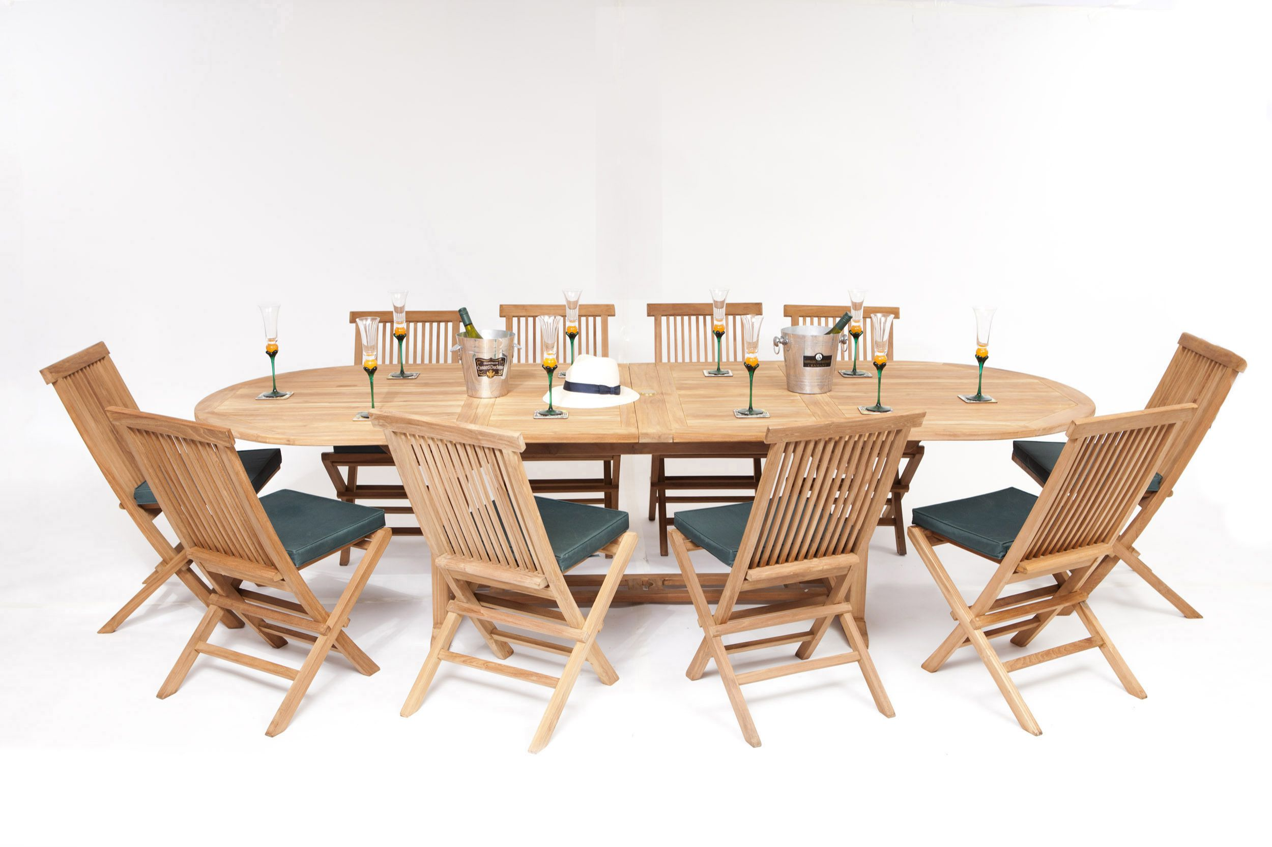 Outdoor Table And Chair Set Monaco Teak Garden 10 Seater Table Chairs Set