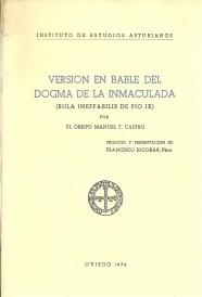Versión en bable del Dogma de la Inmaculada