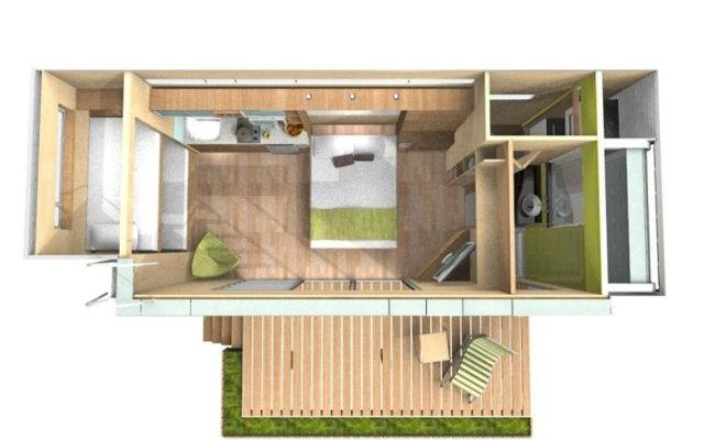 Casa Cubica Shipping Container Transformed To A Micro Home
