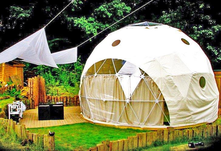 The Garden Dome  Ecofriendly Geodesic Dome Getaways