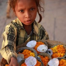 Flower candle girl