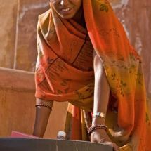 Pretty woman at Amber Fort