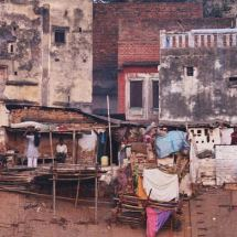 Dwellings on the Varanasi waterfront