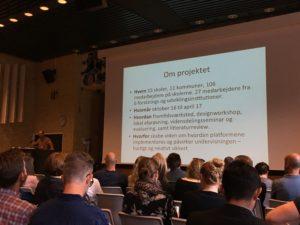 Professor Morten Misfeldt præsenterer projektets rammer