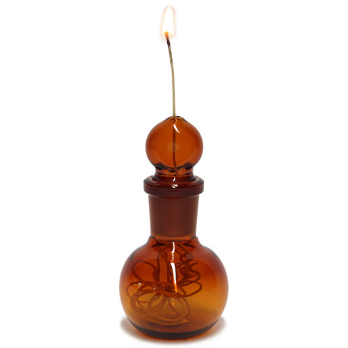 Glass on Glass Humboldt Hemp Wick Dispenser Amber