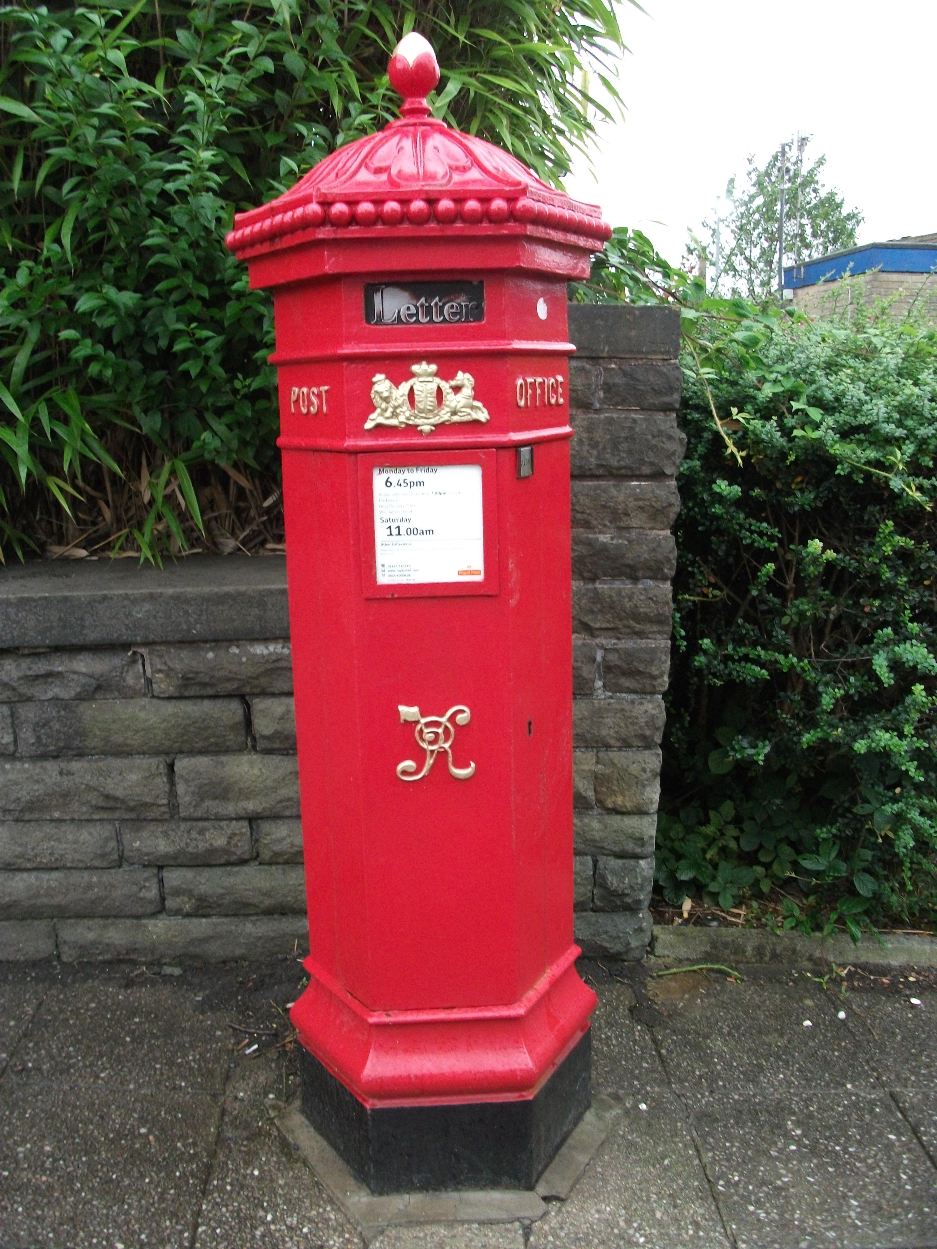 Queen Victoria Hexagonal Penfold Pillar Boxes Humbugshouse