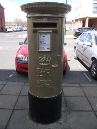 Gold post box, Jarrow for Josef Craig