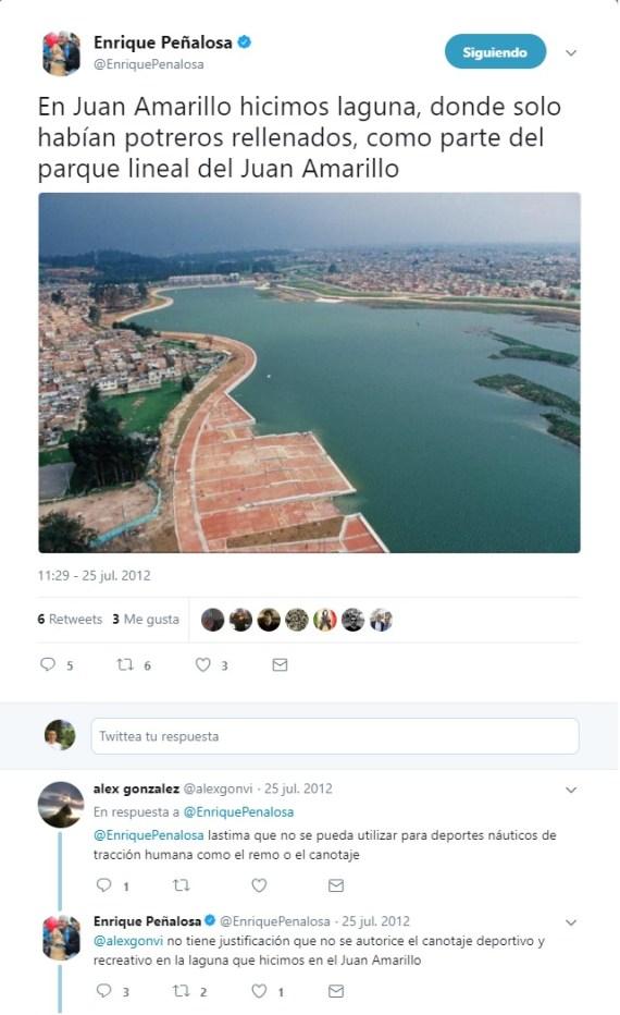 Twitter sobre Juan Amarillo