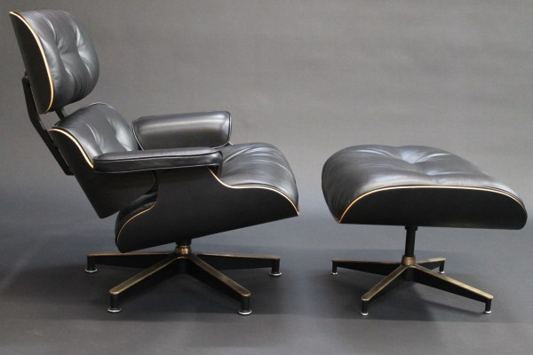custom bespoke eames lounge chair and ottoman photo