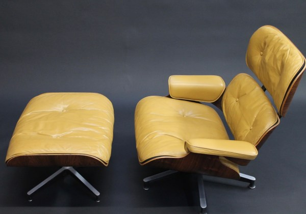 vintage 1950's eames lounge and ottoman