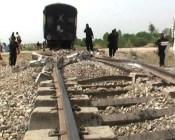 دشت میں ریلوے ٹریک پر دھماکہ' چار بوگیاں ٹریک سے اتر گئی