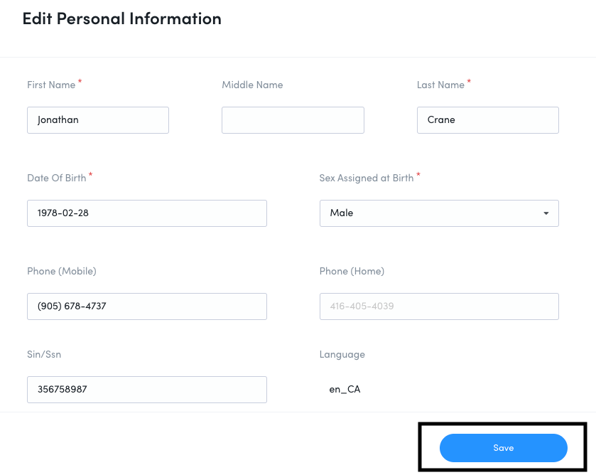 How to Change Your Personal Information