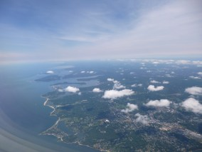 Flying into Maine