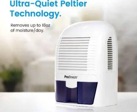 Image of pro breeze electric mini dehumidifier review