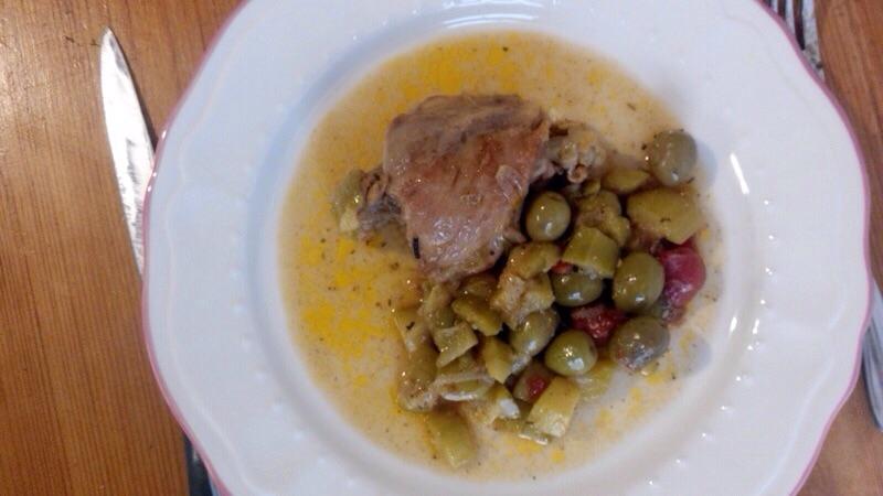 Poulet courgettes olives