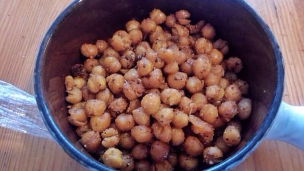 Pois chiches grillées aux épices