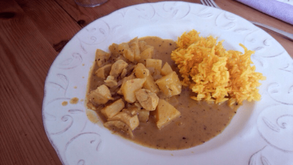Poulet curry ananas
