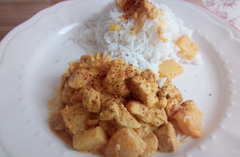 Poulet curry à l'ananas