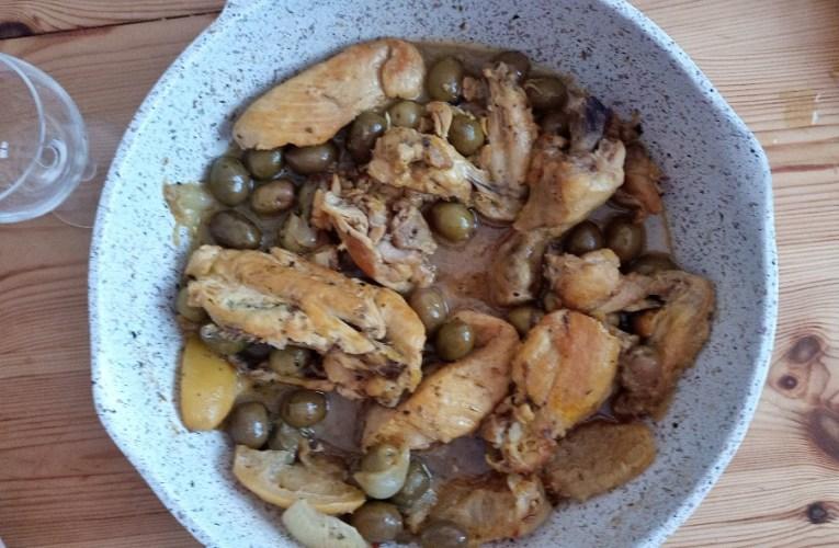 Poulet au citron confit et olives