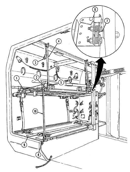 Folding Upper Litter Rack to the Backrest Position.